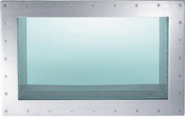 Окно подводное прямоугольное 1,09 х 0,69 м с фланцем — по запросу
