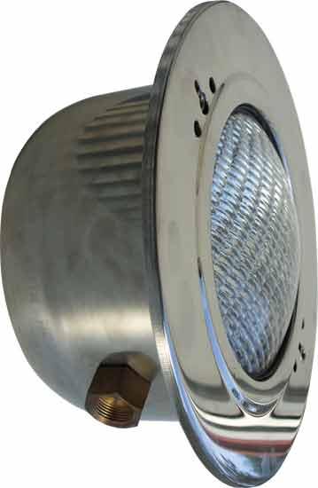 Фонарь 300 Вт, из нерж. стали, с кабелем 2,5 м, для бетонных бассейнов