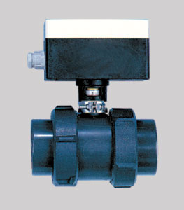 Шаровый кран 50 мм с эл. приводом 24 В (проход 50 мм, подключение 63 мм), до 2 барa