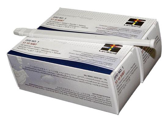 Запасные таблетки для фотометра/Scuba II — свободный и общий хлор упаковка 100+100 шт.