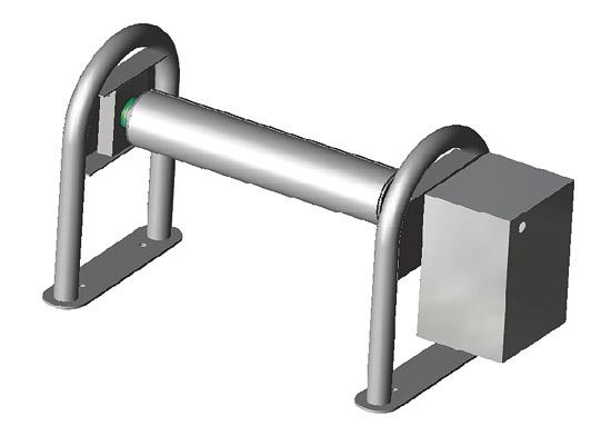 Барабан Rollfix-Ronda до 4.0 м, вал диам. 110 мм алюмин., консоли из нерж. стали
