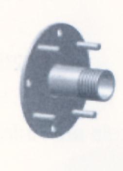 Фланец–плита для стеновой опоры для пленочных бассейнов с проходом для кабеля