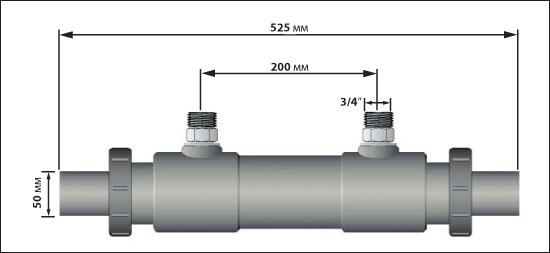 Теплообменник  KstW 200-47,5, 48 кВт, для морской воды (не для электролиза)