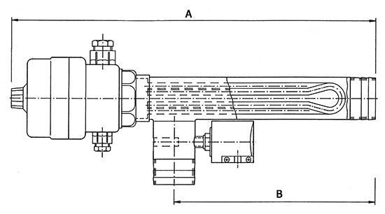 Эл.водонагреватель EWT-70  12 кВт, подкл. накидные гайки с клеевым соединением D 50, в комплектацию входит термостат и датчик давления