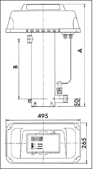 Эл. водонагреватель EWT 95-15, 27 кВт, 380 В