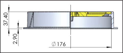 Дренажная решетка 200 мм, опорное кольцо и решетка из пластика