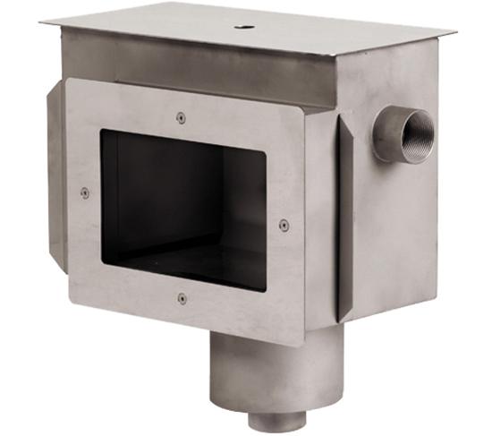 Скиммер А20 из нерж.стали, с фланцем и уплотнением, мех. регулятор уровня, подключение 2 ВР