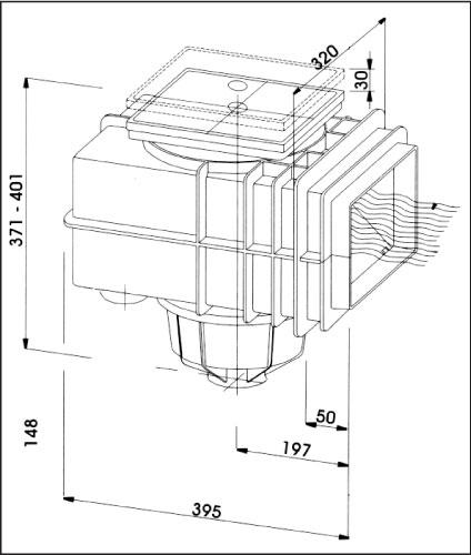 V 20 Скиммер (для бетонного бассейна)