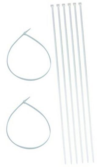 Крепежные ленты для крепления пленки к барабану, пластик 750 мм х 8 мм, комплект 8 шт.