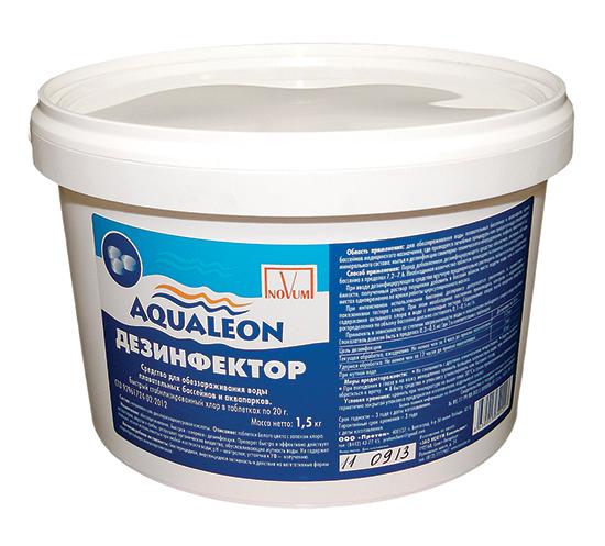 Хлор, мини Aqualeon  4,0 кг, быстрый стабилизированный хлор для бассейнов
