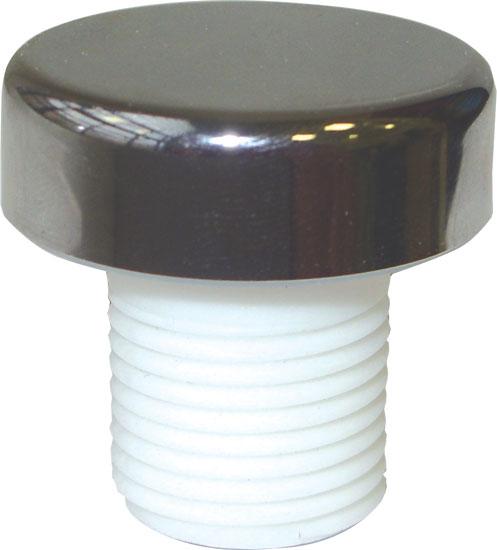 Вентиль подачи воздуха 1/2, крышка- хром.