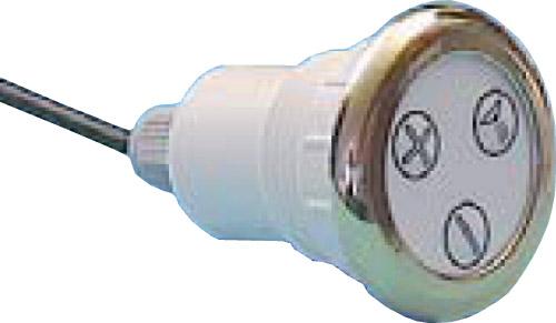Кнопка электронного управления, хромированная бронза, с тремя символами воздух/струя/свет