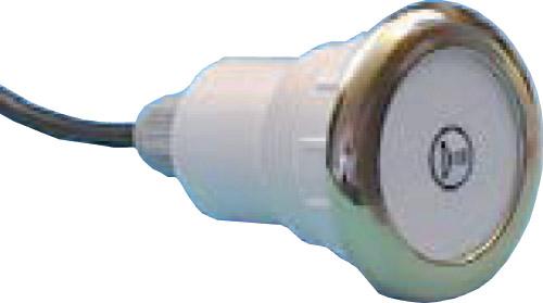 Кнопка электронного управления, хромированная бронза, с одним символом свет