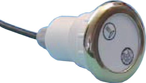Кнопка электронного управления, хромированная бронза, с двумя символами свет струя