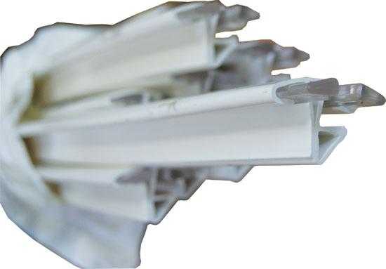 Профиль верхний для круглого бассейна D= 3,00 M белый (комплект), зажимной и навесной монтаж