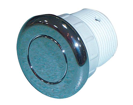 Пневмокнопка, хром. пластик диам 51 мм, подключение 3 мм для шланга