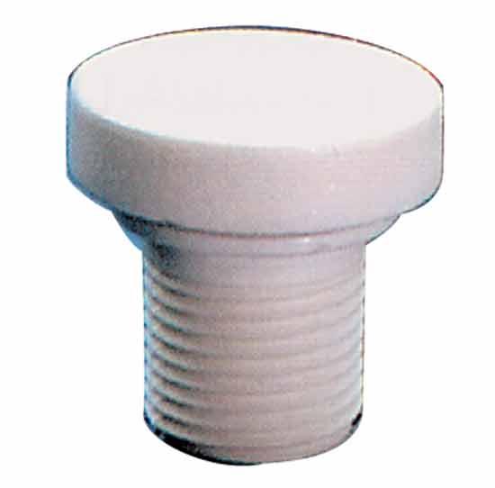 Вентиль подачи воздуха 1/2 НР, белый пластик