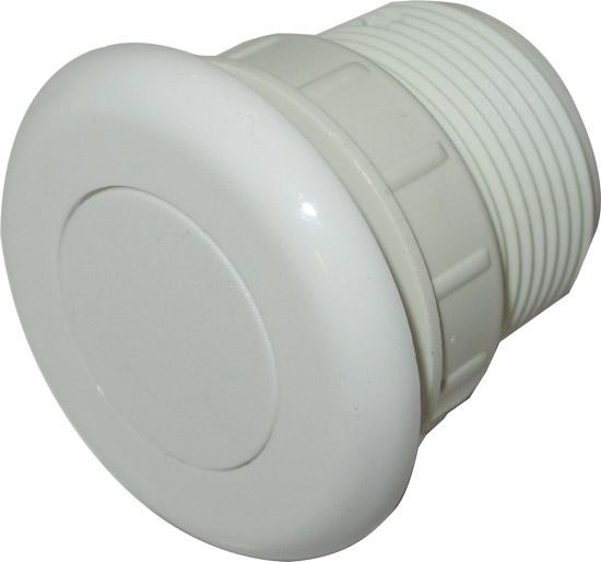 Пневмокнопка, белый пластик диам 51 мм, подключение 3 мм для шланга