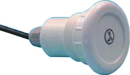Кнопка электронного управления, белая, с одним символом свет