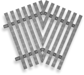 ABS Уголки решетки 45 ( h=25 mm )