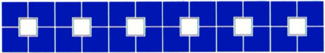 Бордюры из фарфоровой мозаики (квадрат) Bord80153