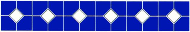 Бордюры из фарфоровой мозаики (ромб) Bord80154