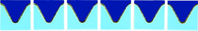 Бордюры из фарфоровой мозаики (волна) Bord80151