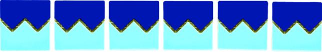 Бордюры из фарфоровой мозаики (зигзаг) Bord80152