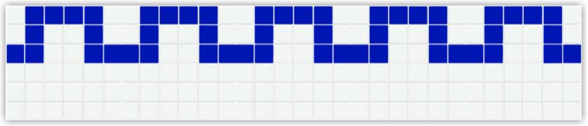 Бордюры из фарфоровой мозаики Bord801612
