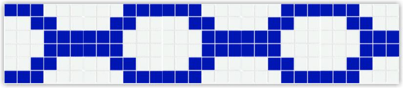 Бордюры из фарфоровой мозаики Bord801613