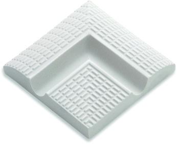 Наружные угловые элементы  поручней с сетчатой поверхностью