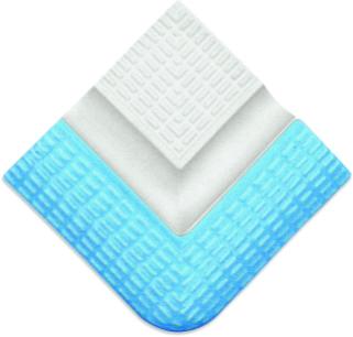 Наружные угловые элементы сгибов  поручней с сетчатой поверхностью