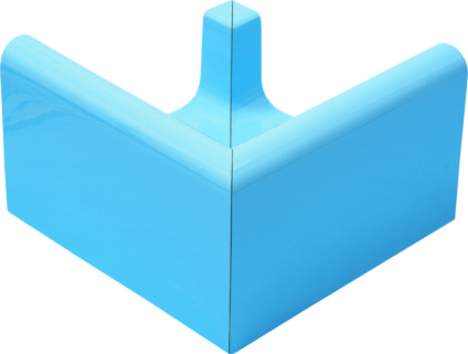 Наружный угловой элемент поручневого водоотводного канала