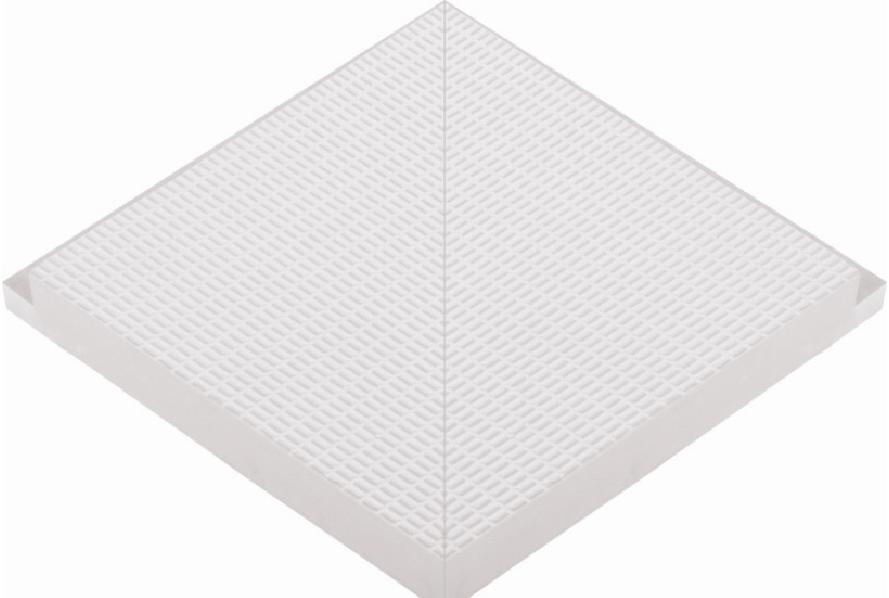 Наружный угловой элемент противоскользящей профильной плитки  33 мм