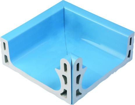 Внутренний угловой элемент поручневого водоотводного канала