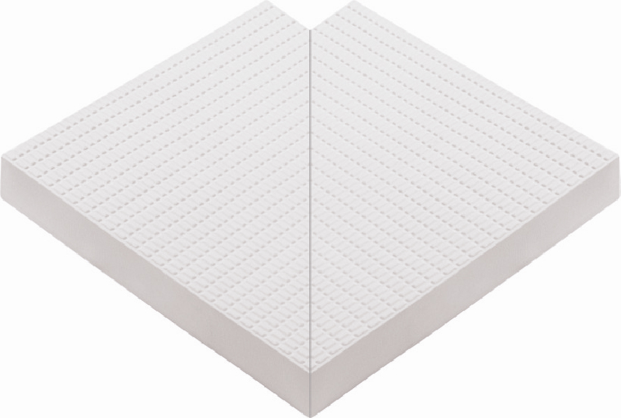 Внутренний угловой элемент противоскользящей профильной плитки 33 мм