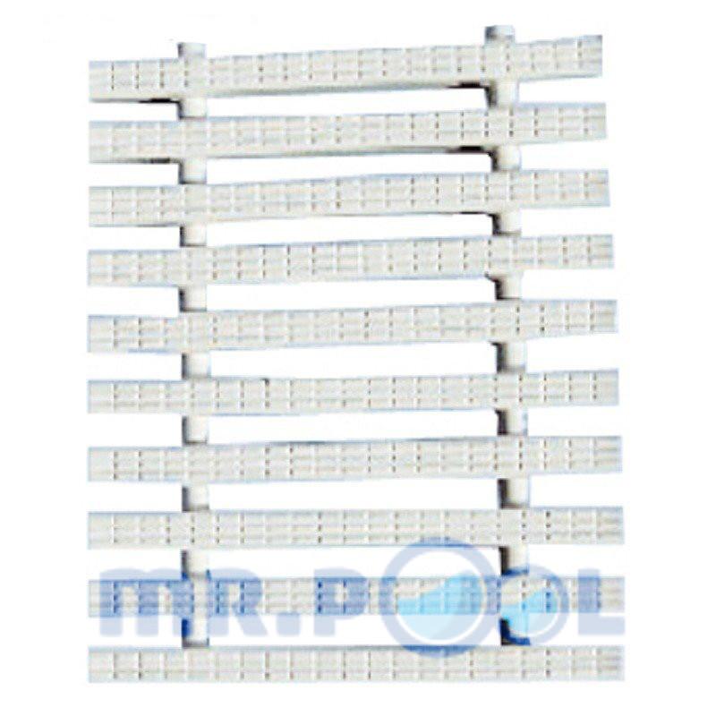 Переливная решетка Classic с двойным соединением 195x25 мм (белая)