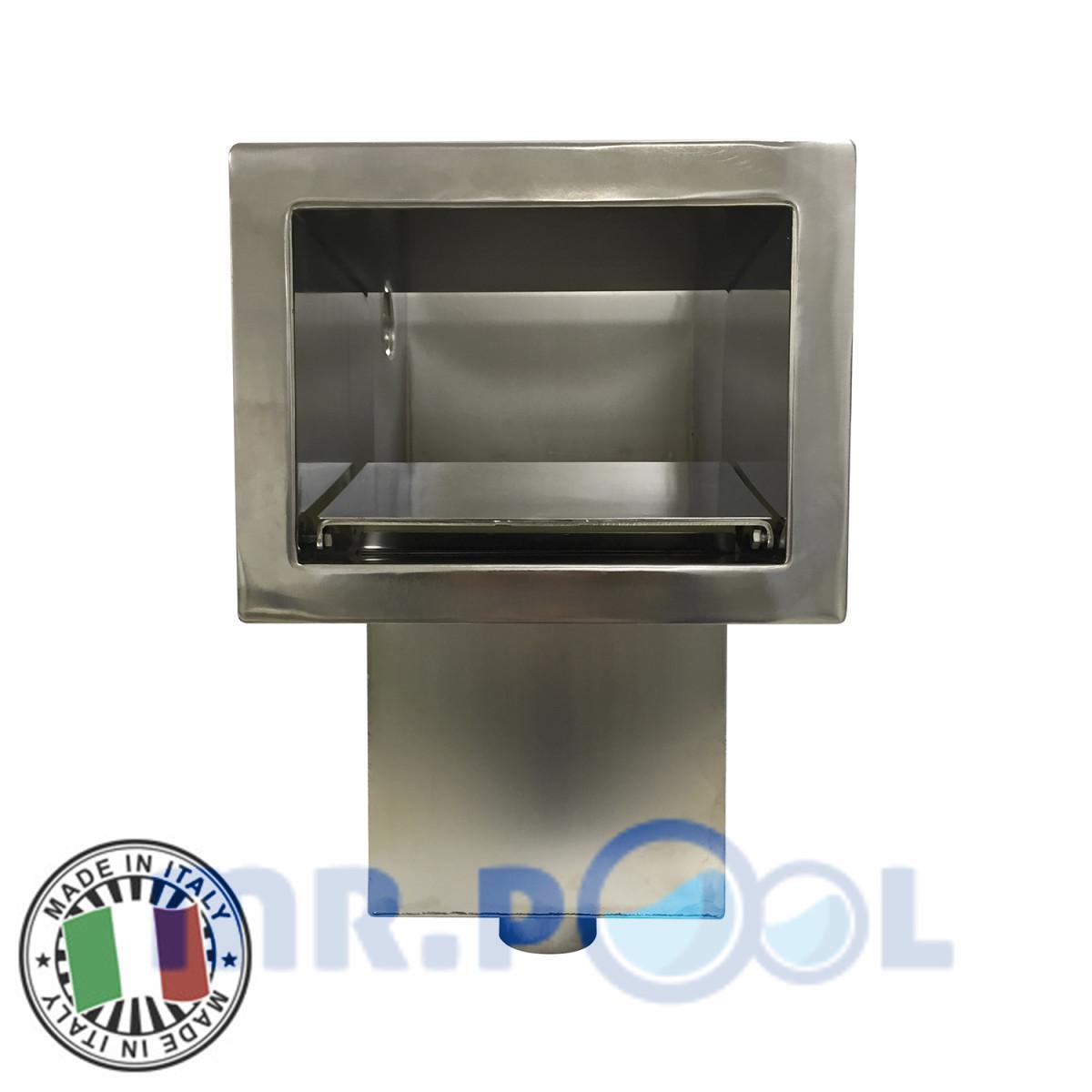 Скиммер под бетон Marpiscine 19101 стандарт (2″) нерж.сталь