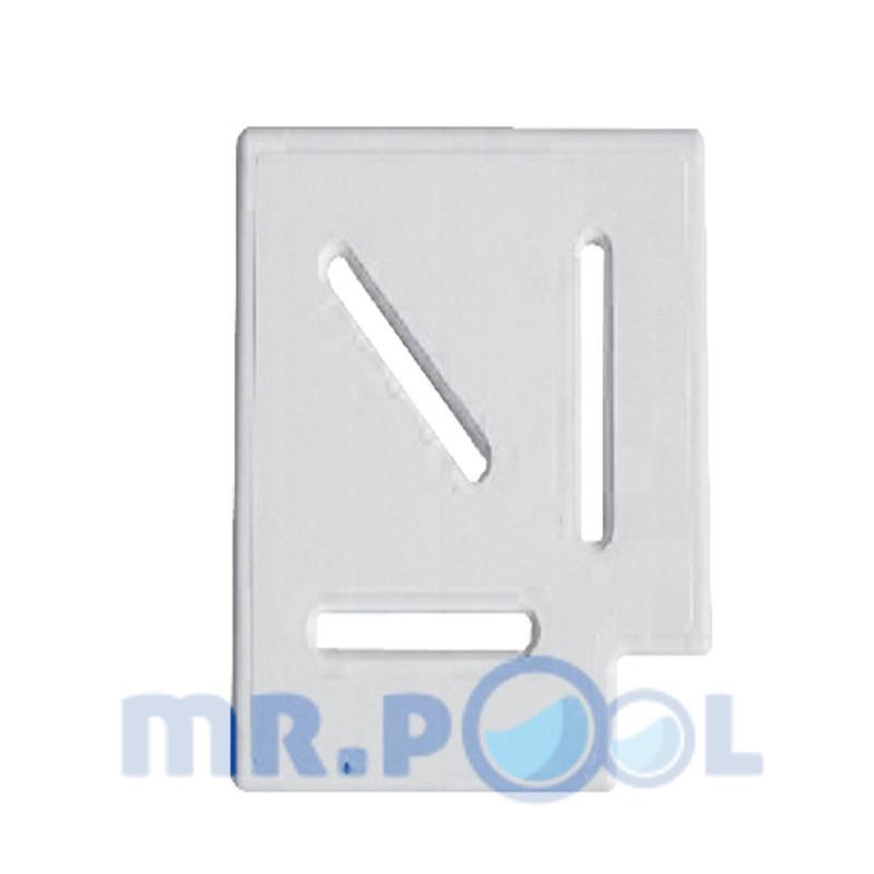 Угловой элемент Classic и Grift для переливной решетки 90° 195/25 мм (белый)