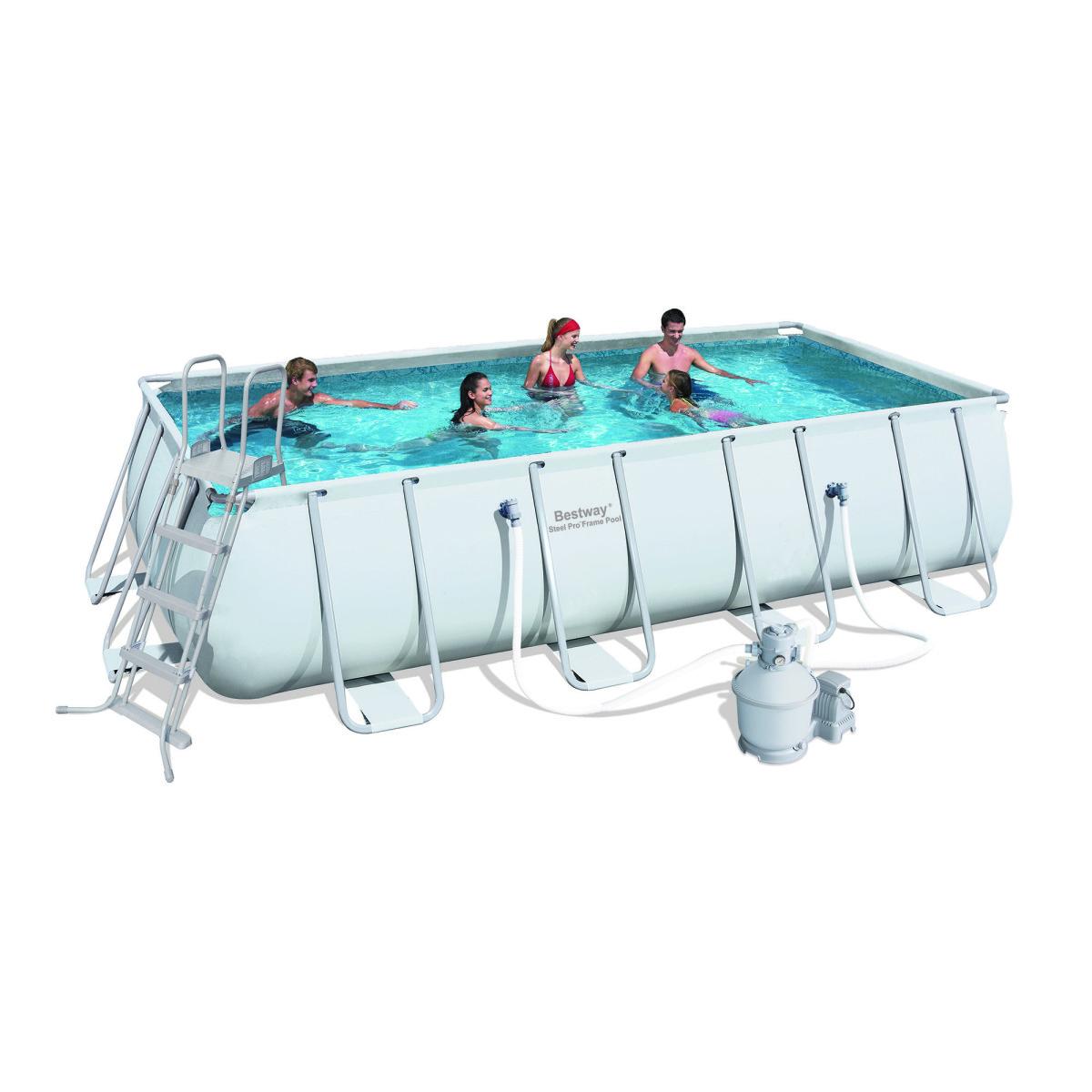 Каркасный бассейн Bestway 56466/56256 с песочным фильтром (549х274х122)