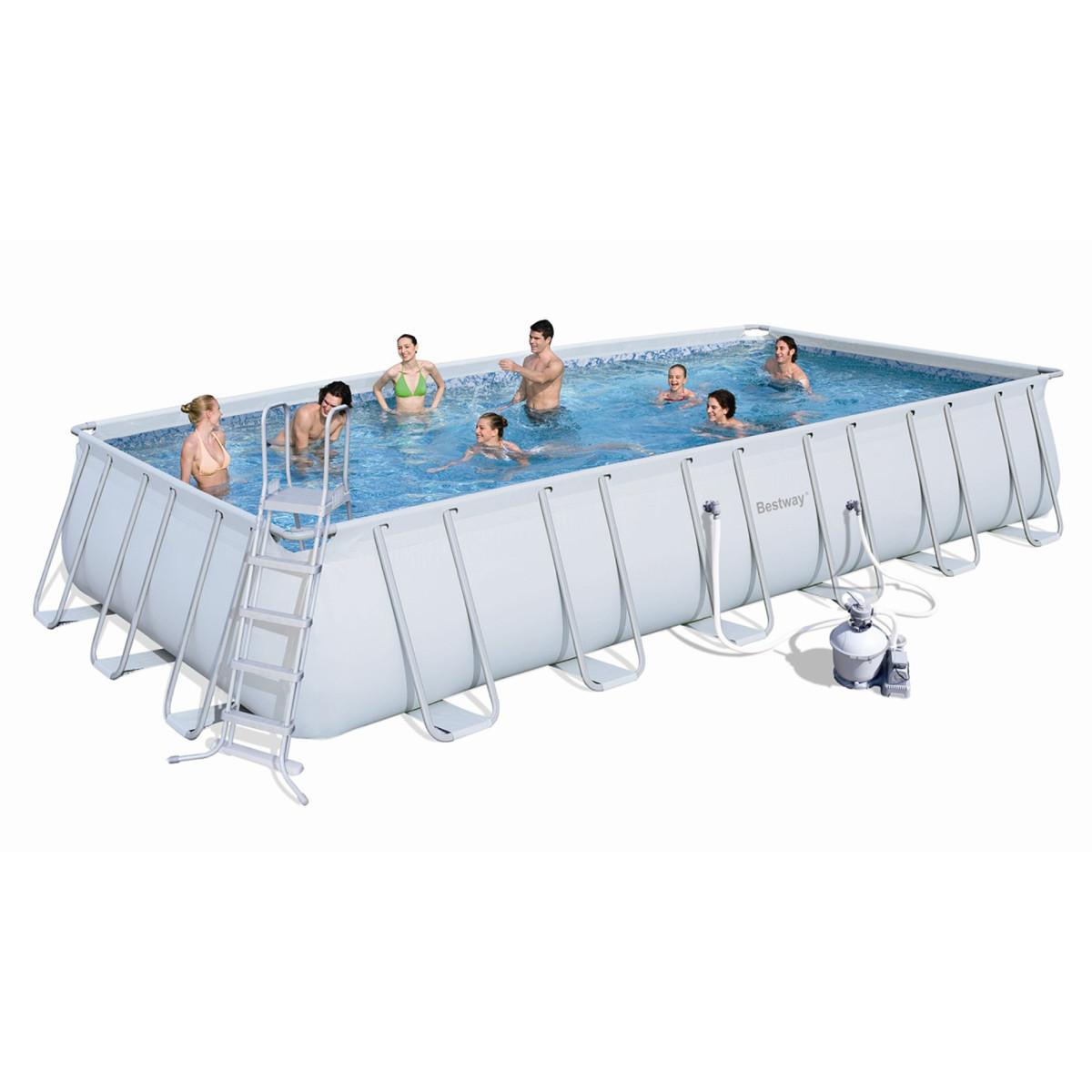 Каркасный бассейн Bestway 56475/56258 с песочным фильтром (732х366х132)