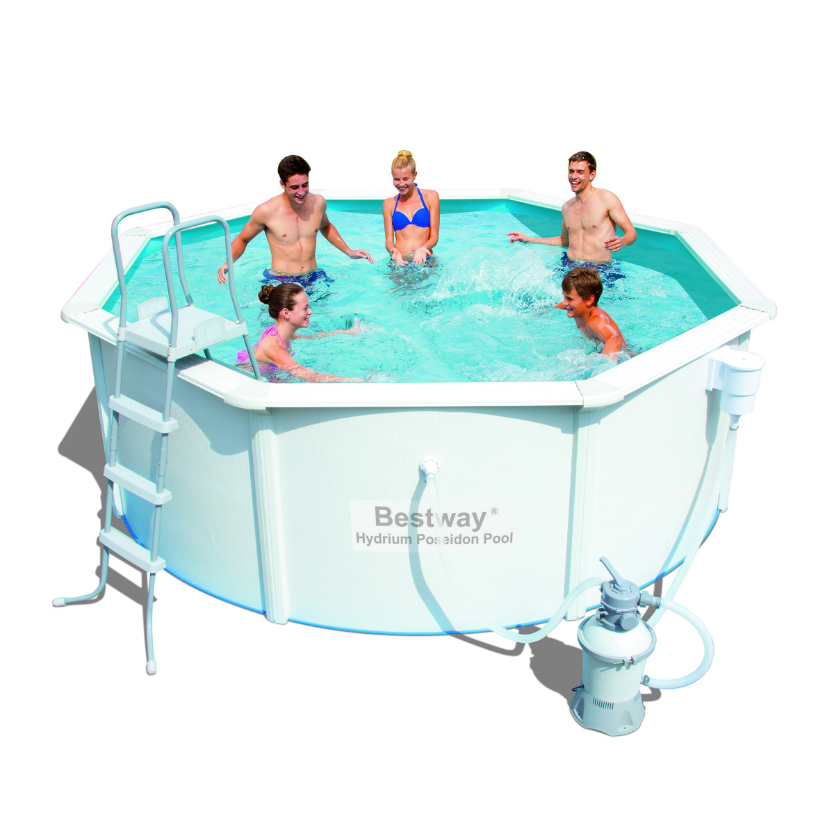 Сборный бассейн Bestway Hydrium Pool Poseidon 56574/56285 (366×122)