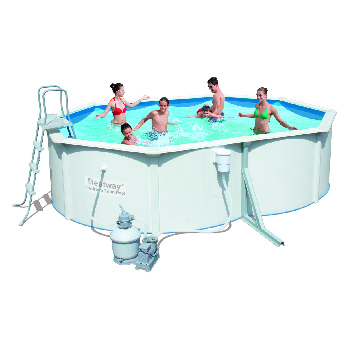 Сборный бассейн Bestway Hydrium Pool Titan 56586/56286 (488x366x122)