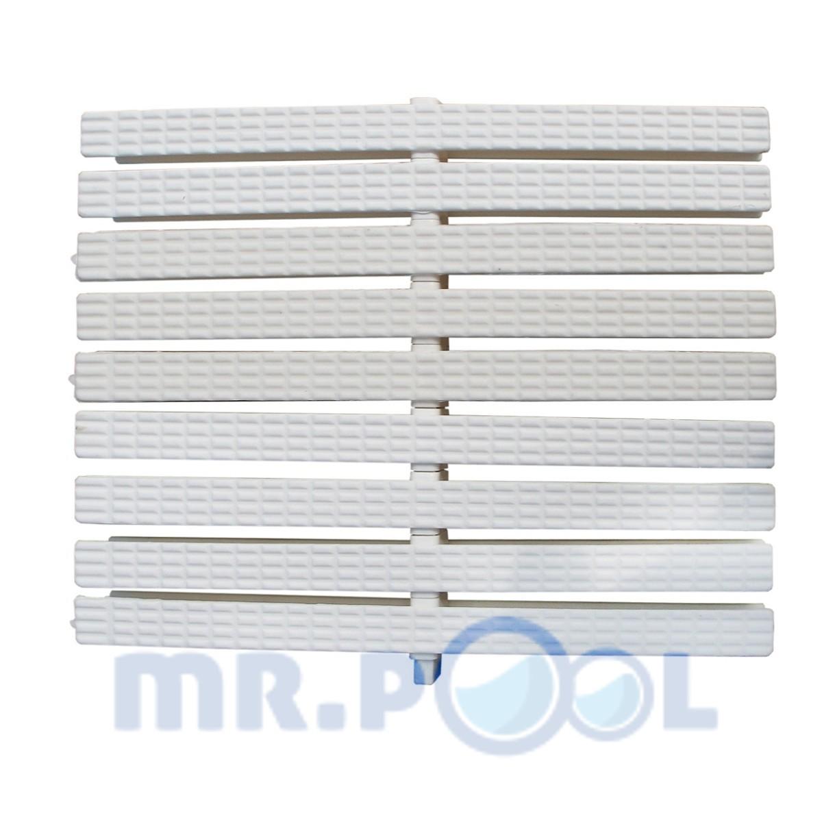 Переливная решетка Classic с центральным соединением 245×25 мм (белая)