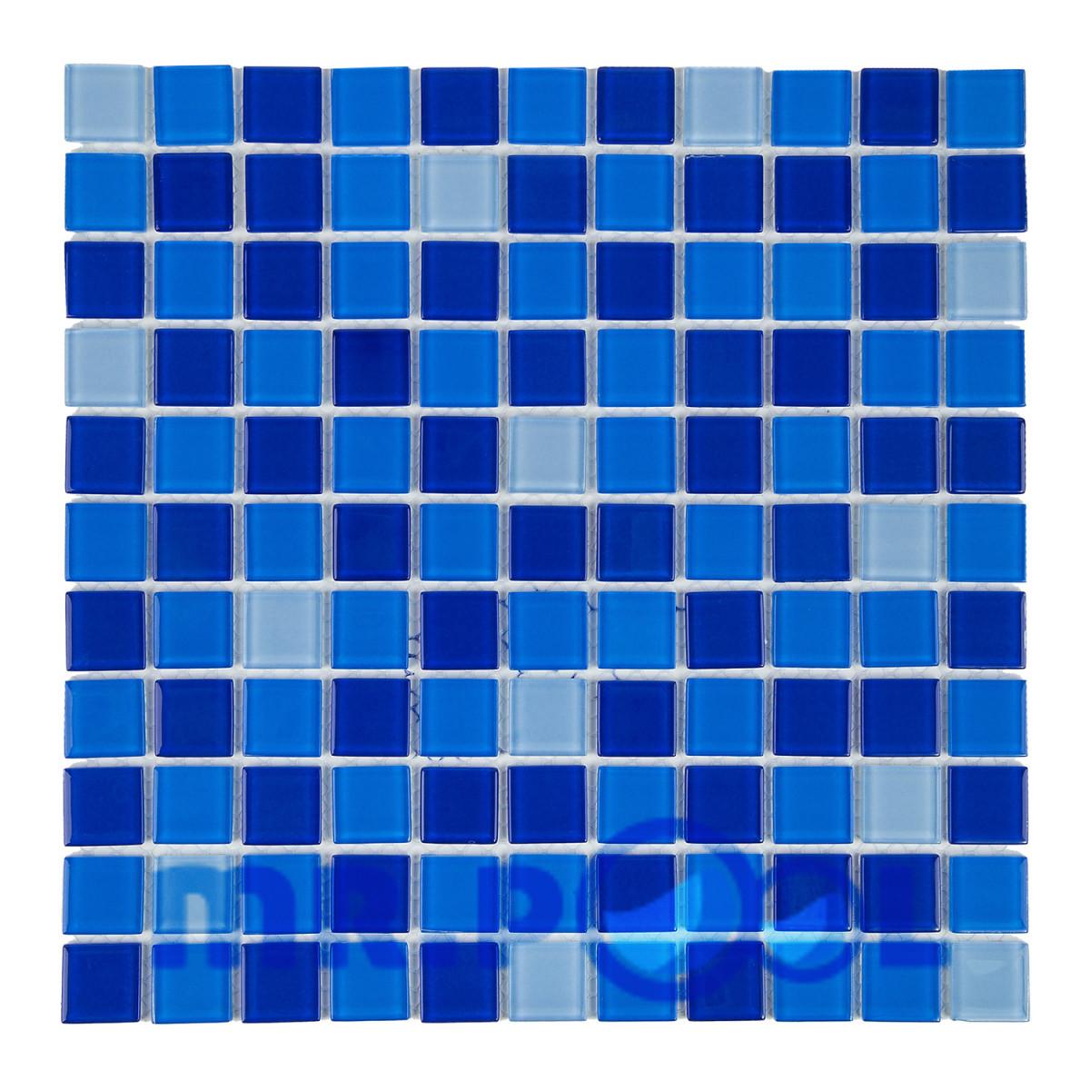 Мозаика стеклянная Aquaviva Jamaika Cristall темная 425001