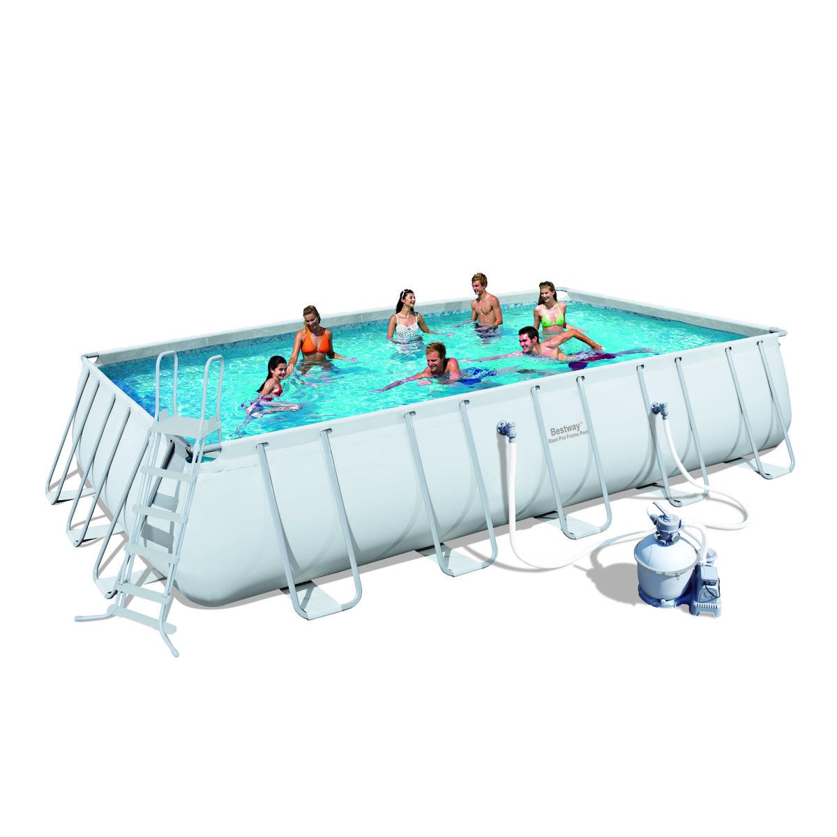 Каркасный бассейн Bestway 56257 с песочным фильтром (671x396x132 )