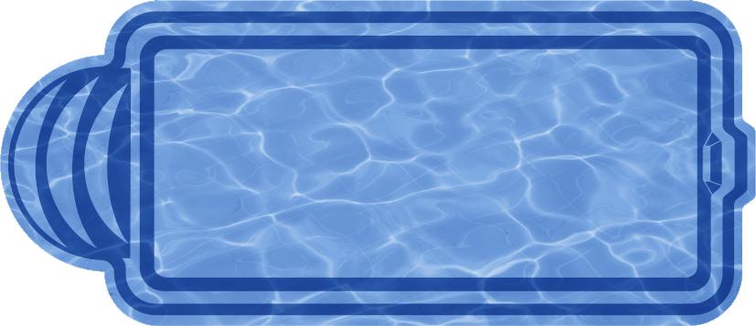 Прямоугольный бассейн  Марокко (МОДЕЛЬ 2015г.)