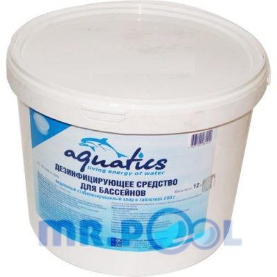 Медленный стабилизированный хлор в таблетках (200г), 12 кг