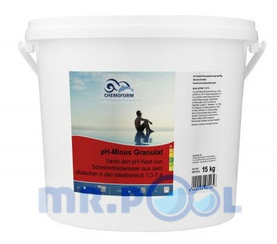 Cредство для понижения уровня PH воды в бассейне PH Mинус гранулированный, 15 кг