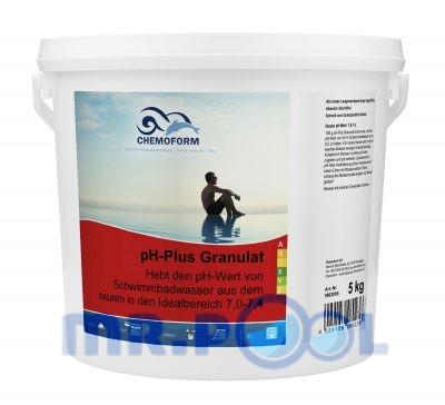 Cредство для повышения уровня PH воды в бассейне PH Плюс гранулированный, 5 кг